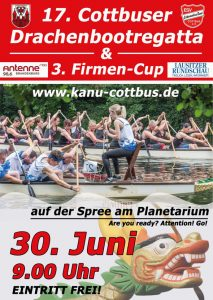 17. Cottbuser Drachenbootregatta/ 3. FirmenCup @ Cottbus / Spree, fließendes Gewässer mit Wende | Cottbus | Brandenburg | Deutschland