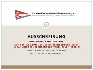 Kanu-Wanderfahrt zum BRANDENBURG-TAG 2018 (#BBT18) in Wittenberge @ Gnevsdorf (Elbe) am Stauwerk Gnevsdorfer Vorfluters (Einsetzstelle) | Rühstädt | Brandenburg | Deutschland