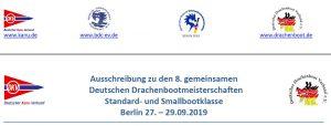 DRACHENBOOT: 8. Gemeinsame Deutsche Drachenbootmeisterschaften 2019 (Standard- und Smallbootklasse) @ Regattastrecke Berlin-Grünau