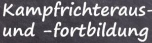 Kampfrichteraus/-fortbildung (online) @ Onlineschulung